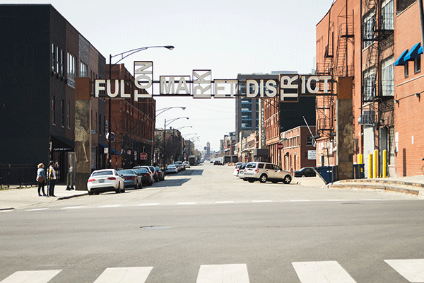 Fulton Market Street Sign in Chicago, IL