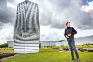 Smog Free Tower is an art installation trapping pollution