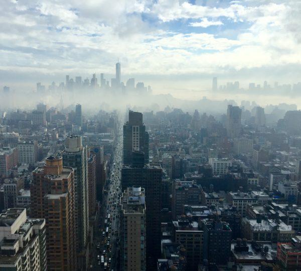 New York City skyline with summer