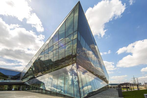 one of the most sustainable buildings, the Crystal is in London