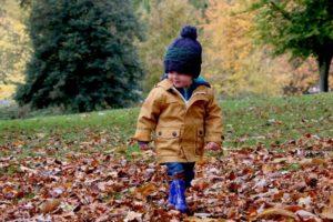 Toddler enjoying fall without allergies