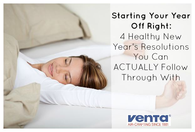 Woman sleeping as part of her New Year's resolutions