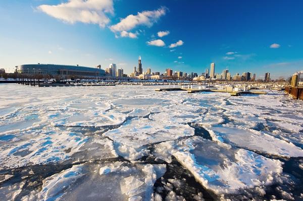 Winter scene of Chicago