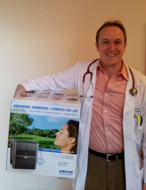 Dr. David Kay endorses the Venta Airwasher for flu season