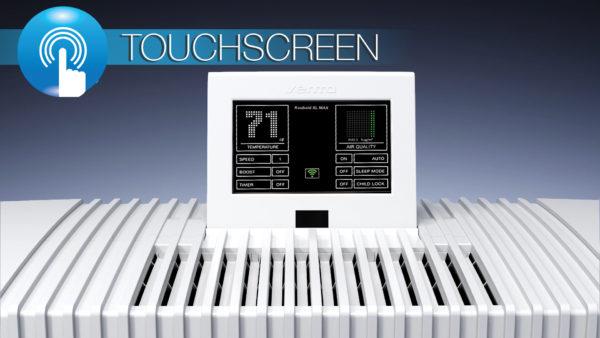 The Kuuboid XL Max air purifier features a digital touchscreen