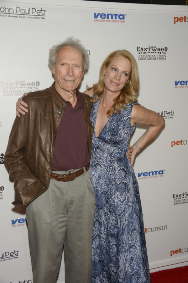 Clint and Alison Eastwood at the Eastwood Ranch Foundation Art for Animals Event
