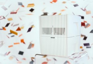 The Venta Airwasher eliminates airborne particles measured in microns