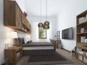 Bedroom in a home apartment with VOCS