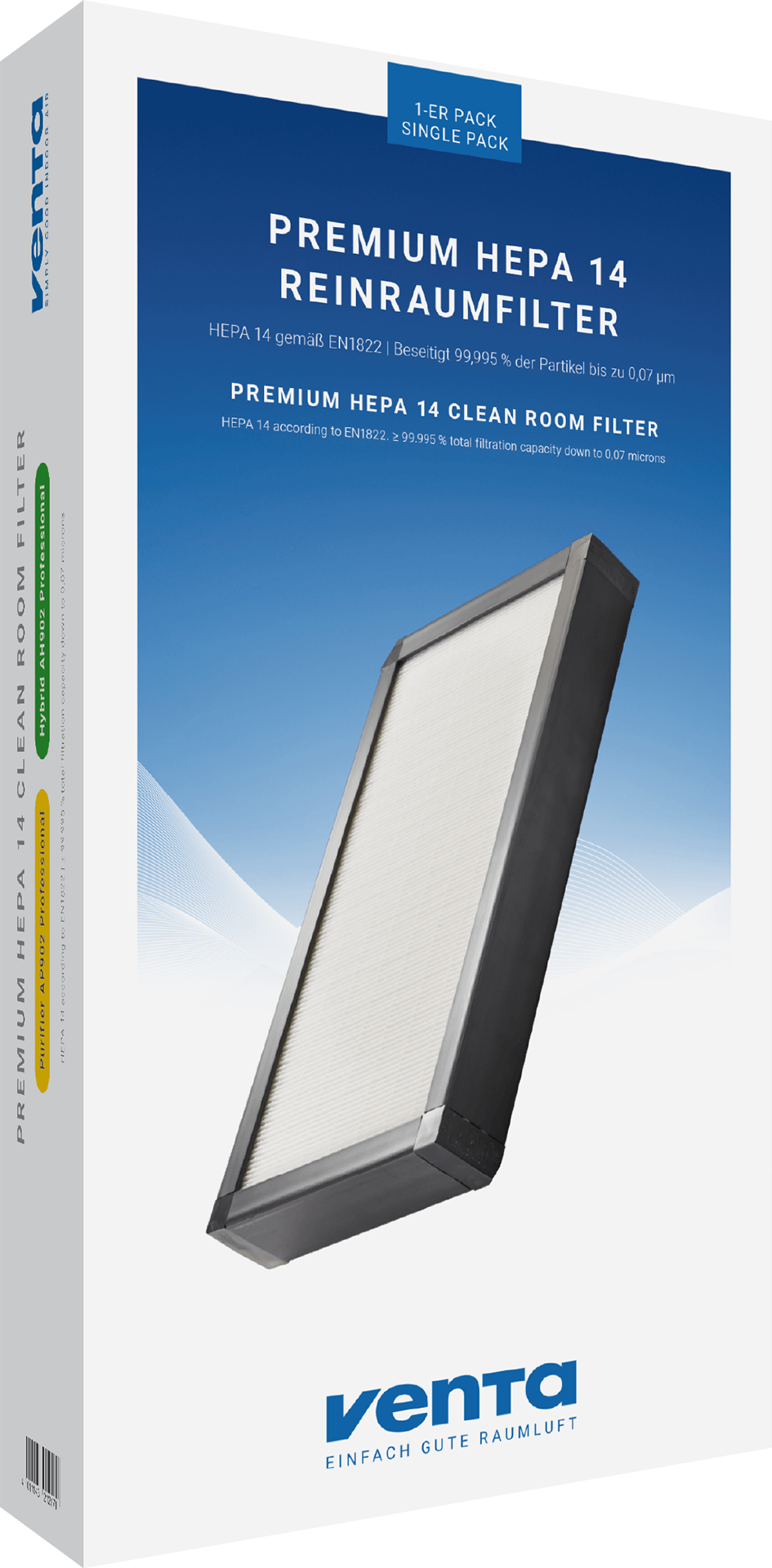 Premium HEPA 14 Reinraumfilter