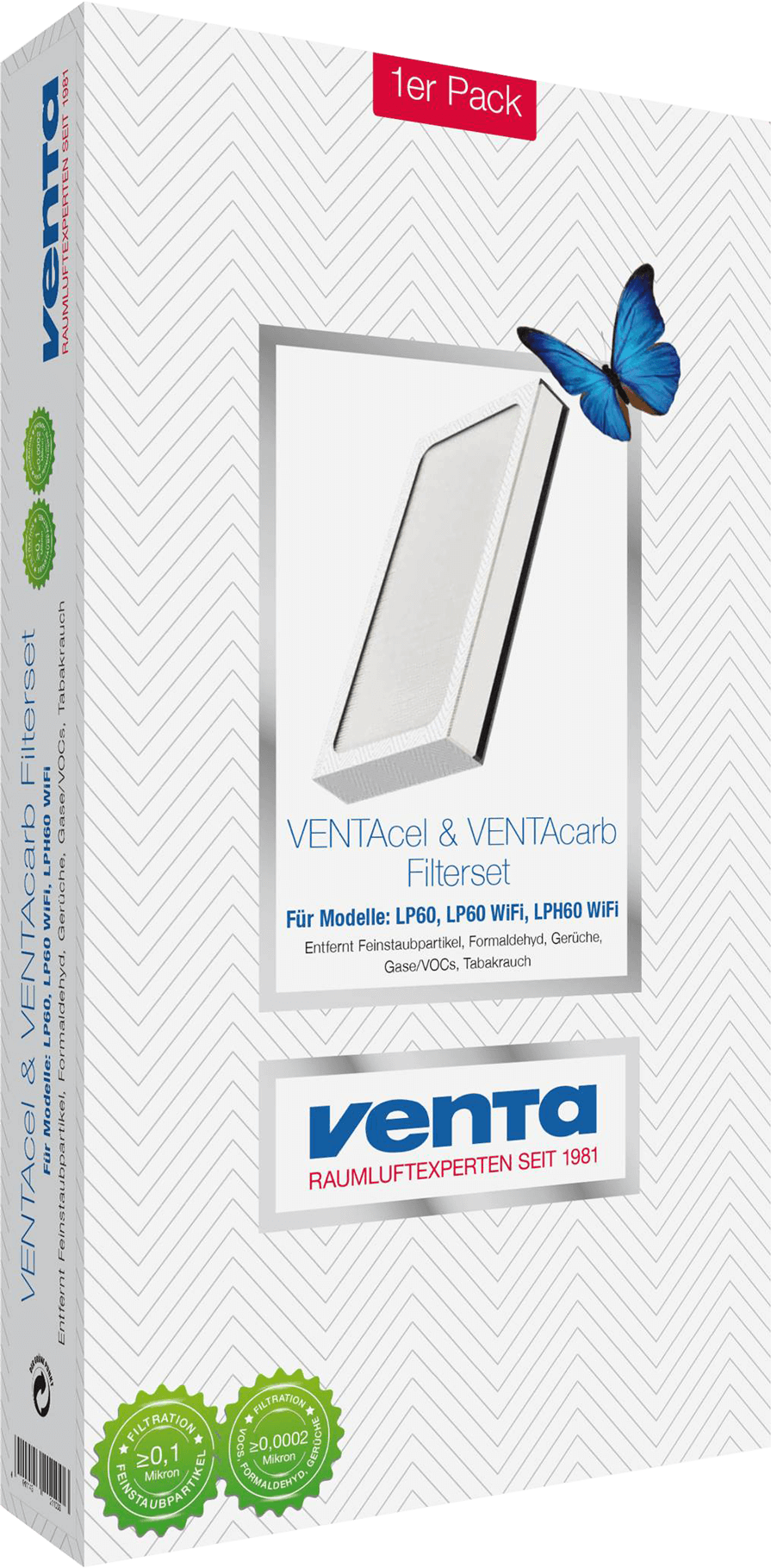 VENTAcel & VENTAcarb filter set