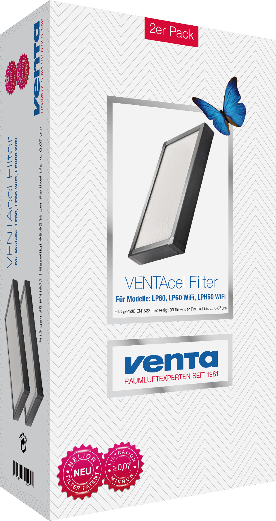 Premium VENTAcel H13 filter 2er